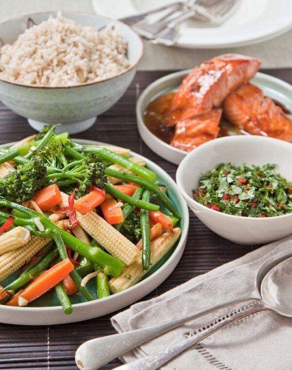 Asiatisk sticky laks med Bimi® broccoli – på to måder