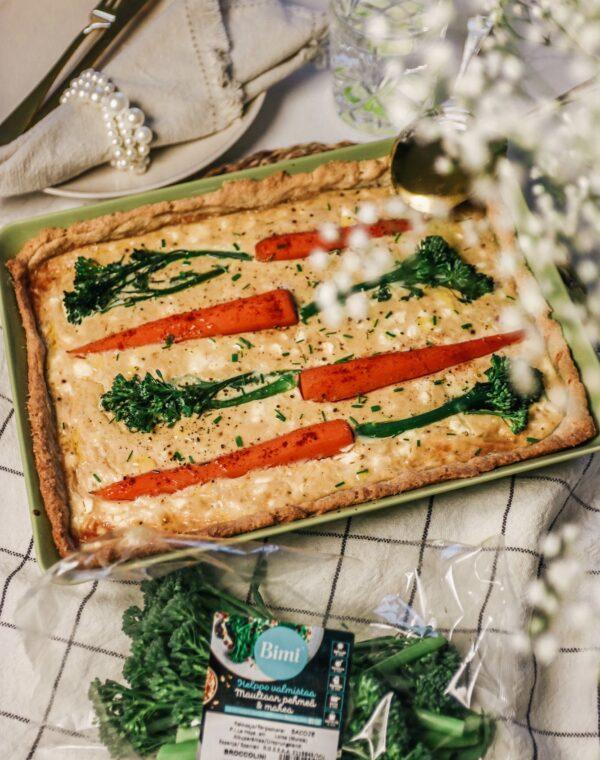 BimiⓇ-parsakaali-porkkana-fetapiirakka