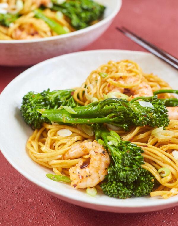 Koreaanse noedels met Bimi® broccoli