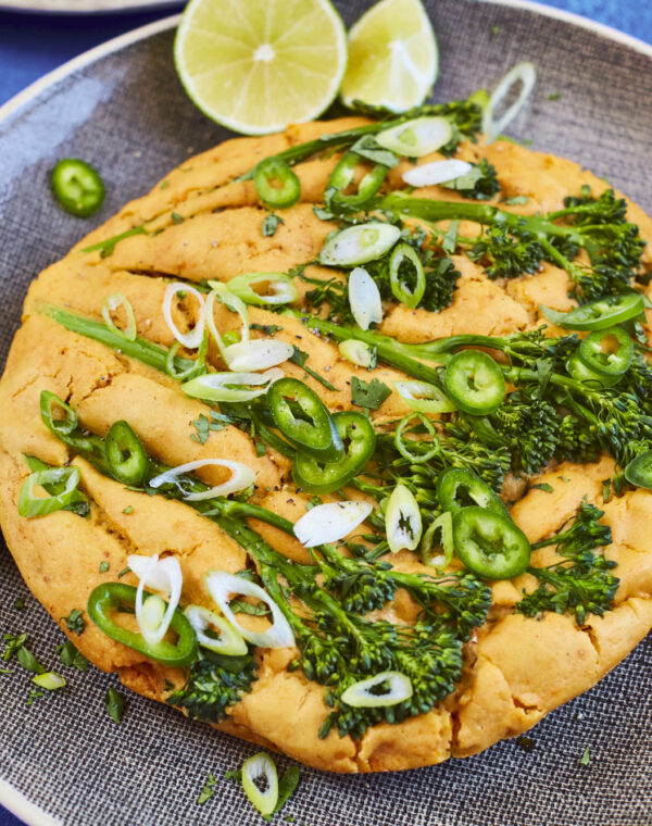 Middagspannekake med Bimi® brokkoli og syltet lime
