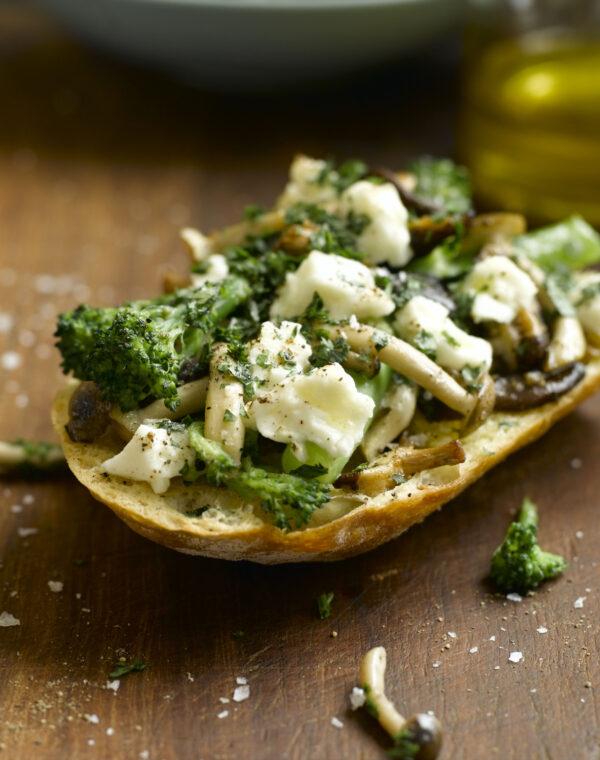 Bruschetta with Bimi® broccoli, Garlic Mushrooms & Feta