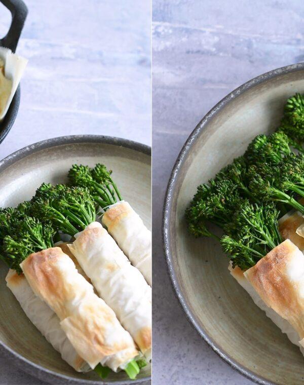 Crispy Bimi® Broccoli with Goat Cheese Dip
