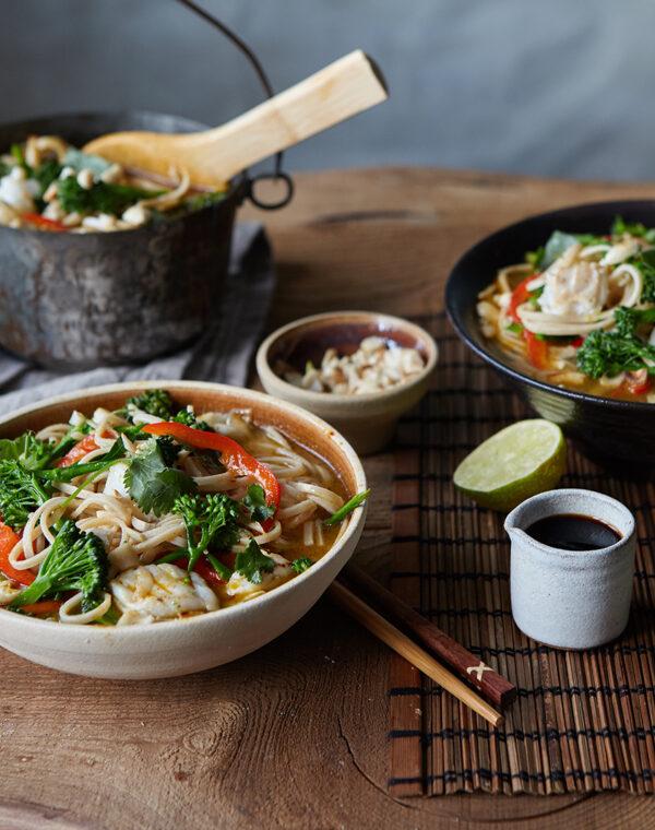 Bimi® broccoli Thailandsk fisk og nuddelsuppe