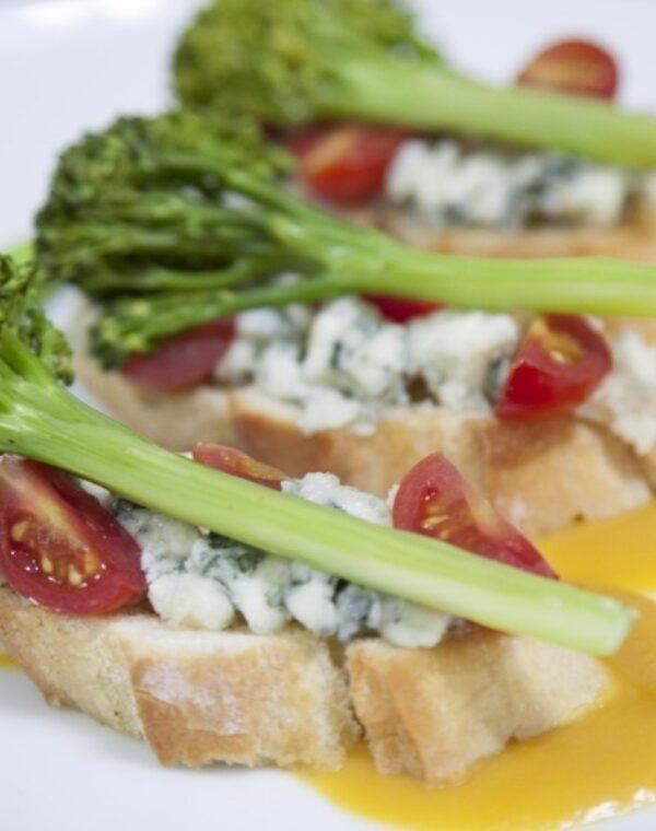 Torradas Bimi® brócolos e queijo azul
