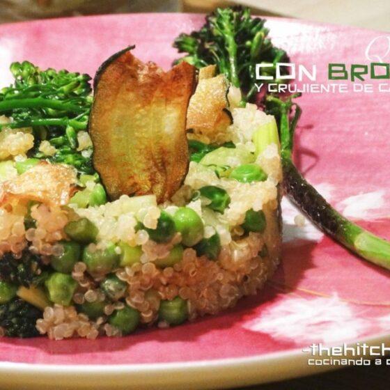 Quinoa con Bimi® brócoli y crujiente de calabacín