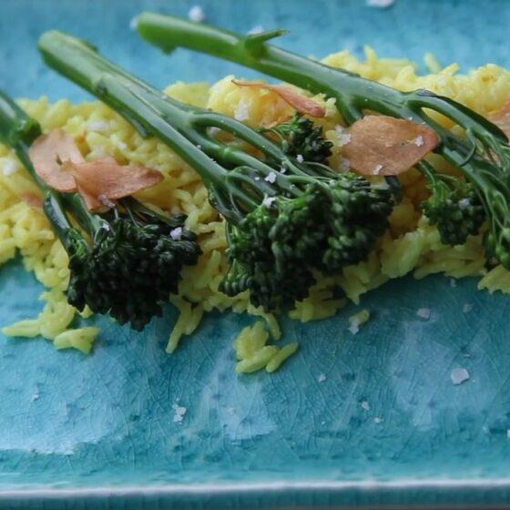 Arroz basmati con Bimi® Brócoli