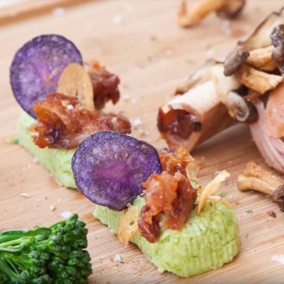 Codillo con flan de Bimi® brócoli