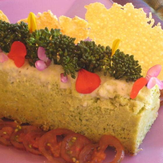 Pastel de Bimi® brócoli, salmón y queso
