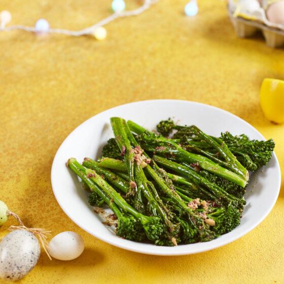 Brocolis Bimi® cuits à la vapeur agrémentés de beurre aux olives