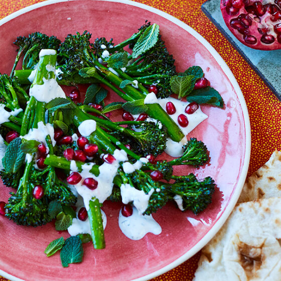 Roast Bimi®broccoli with herbed yoghurt