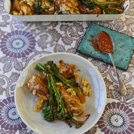 Kylling og Bimi® broccoli bagt med Durban krydderier