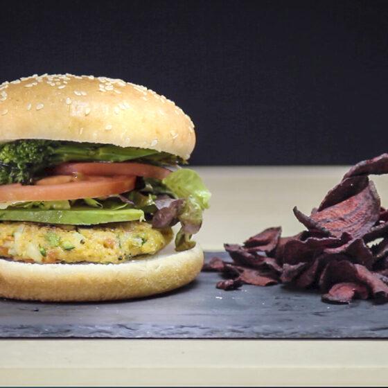 Video receta - Hamburguesa vegana con Bimi®