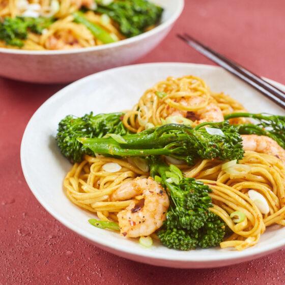 Koreanska smöriga nudlar med Bimi® broccoli