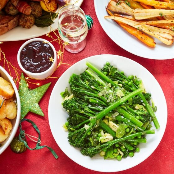 One pot Bimi® broccoli festive greens