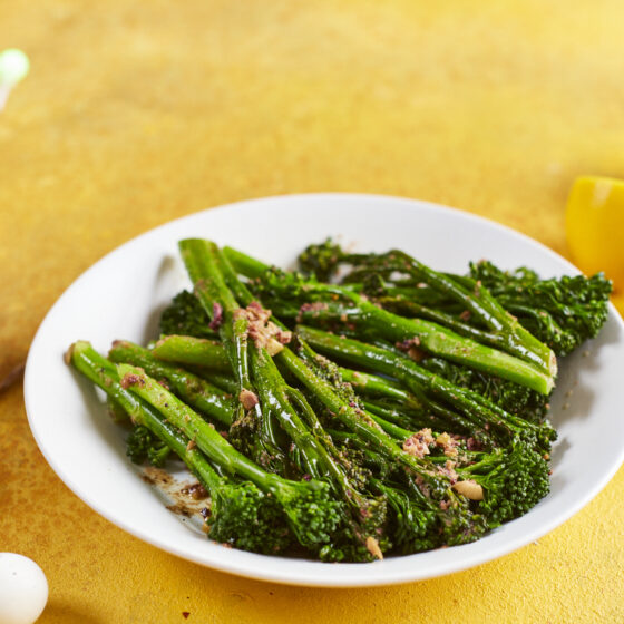 Steamed Bimi® broccoli with olive butter
