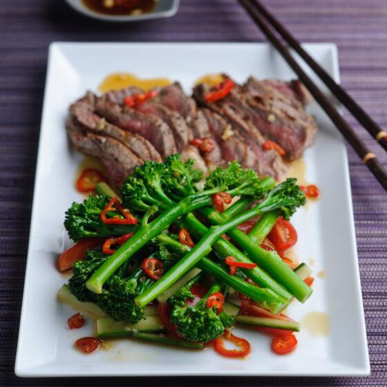 Bimi® broccoli and Beef Pattani Salad