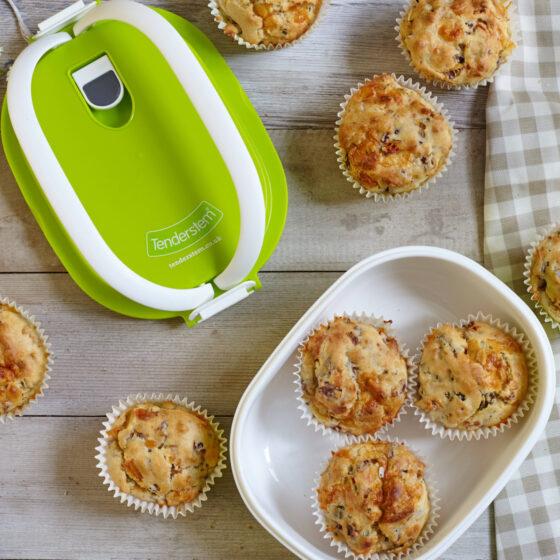 Lunsjmuffins med Bimi® brokkoli, cheddar og chili