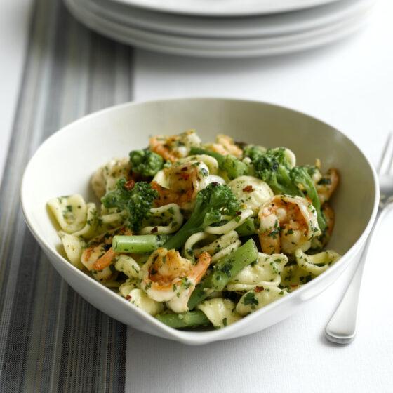 Orechiette Pasta med Bimi® brokkoli og Scampi