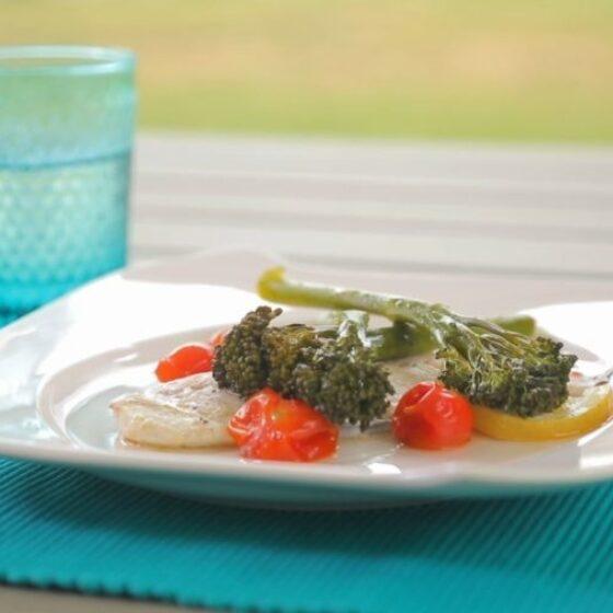 Papillote de dorada y Bimi® brócoli