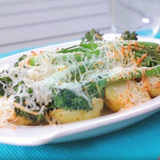 Patatas ratte gratinadas con Bimi® brócoli