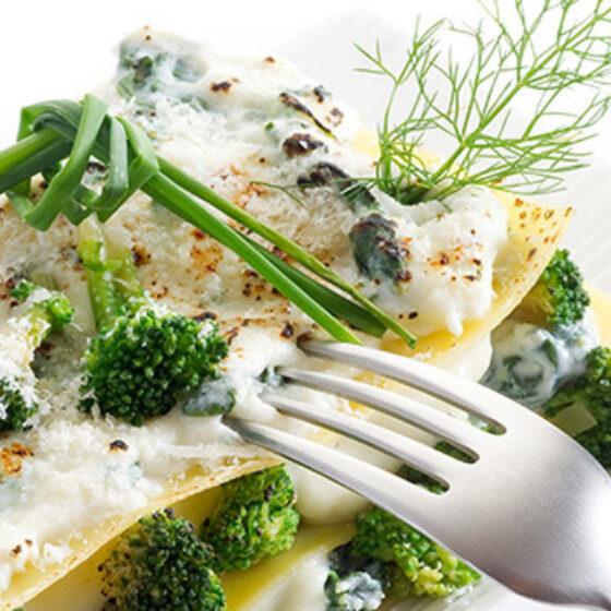 Lasaña de Bimi® Brócoli