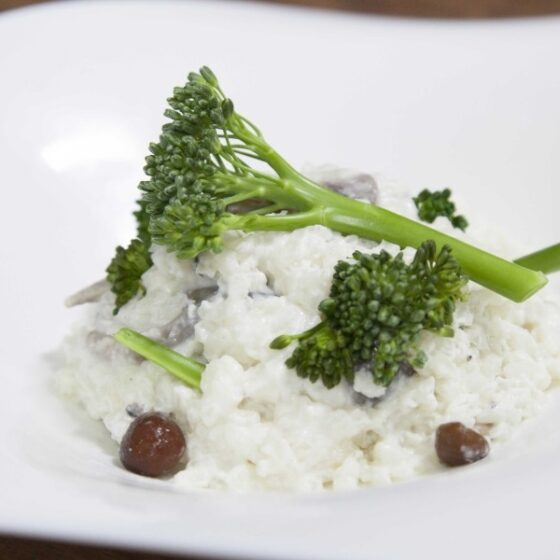 Risotto de Bimi® brócoli y boletus