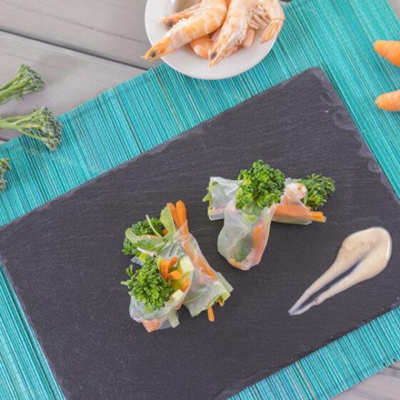 Bimi® brócoli rolls de langostinos