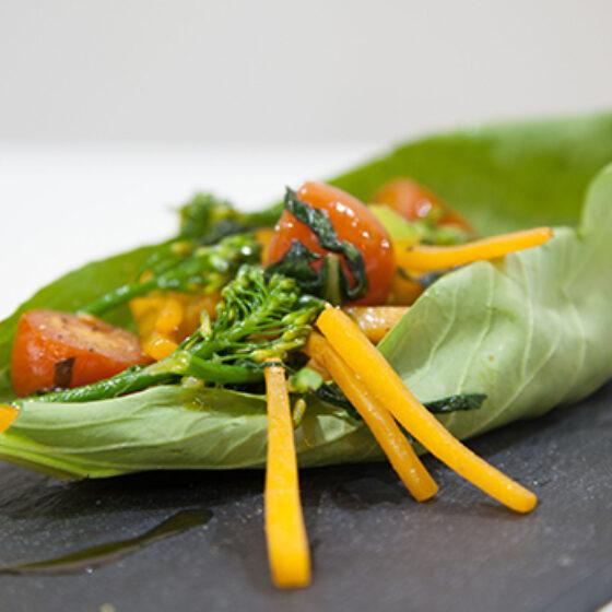 Salteado de calabaza y Bimi® brócoli