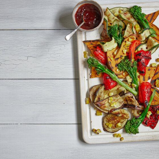 Grillede BBQ-grønnsaker