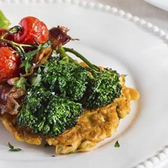 Buñuelos de maíz con Bimi® brócoli