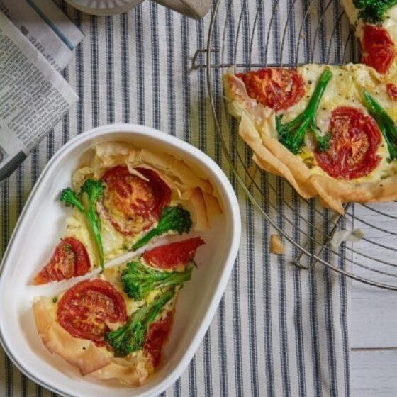 Tarte aux brocolis Bimi® et à la mozzarella