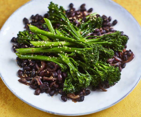 Korean-style black beans and Tenderstem® broccoli by   Dr Rupy of The Doctor's Kitchen