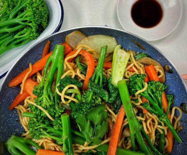 Tenderstem® broccoli hoisin vegetable stir-fry
