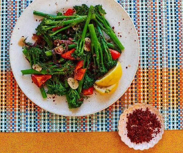 Braised Tenderstem® broccoli with Red Pepper and Dill by Yasmin Khan
