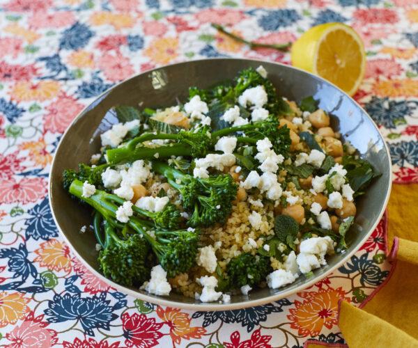 Chickpea, Tenderstem® broccoli and Bulgur Wheat Pilaf by Yasmin Khan