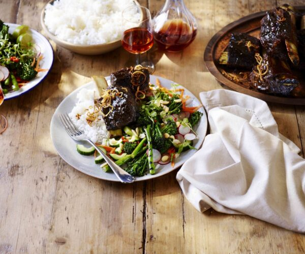 Sticky Asian Beef Short Ribs with Charred Tenderstem® broccoli Salad