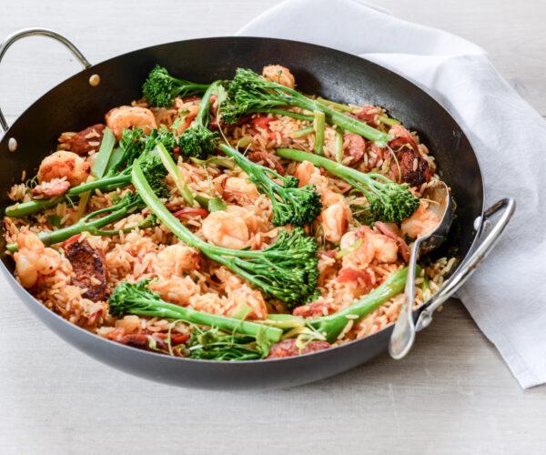 Tenderstem® broccoli Prawn & Chorizo Jambalaya