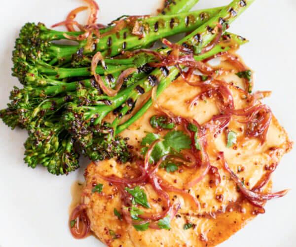 Donal Skehan's Maple & Coriander Chicken with Grilled Tenderstem® broccoli