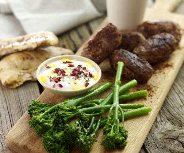 Lamb Koftas with Tenderstem® broccoli & Yoghurt Dip