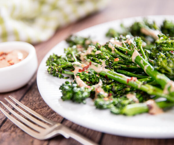 Griddled Tenderstem® broccoli with a Gado Gado Dressing