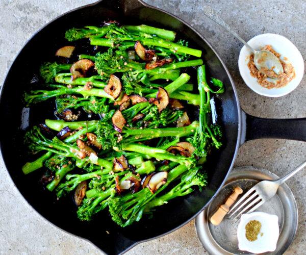 Miso Butter Tenderstem® broccoli  & Pan-Fried Aubergine
