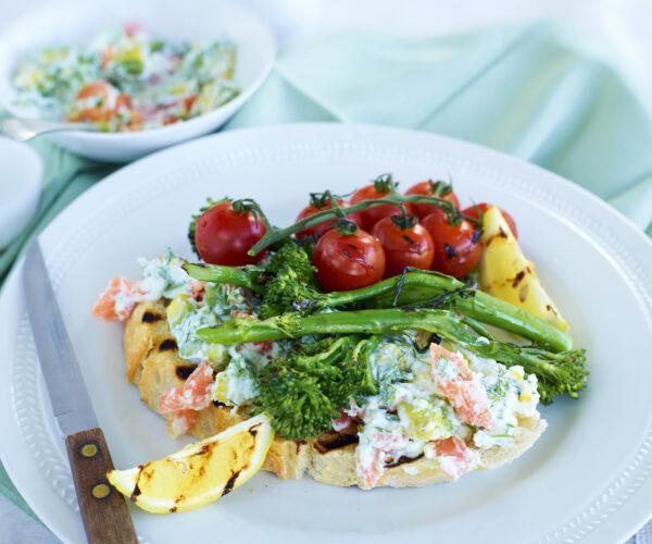 Smoked Salmon Paté on Toast with Grilled Tenderstem® broccoli
