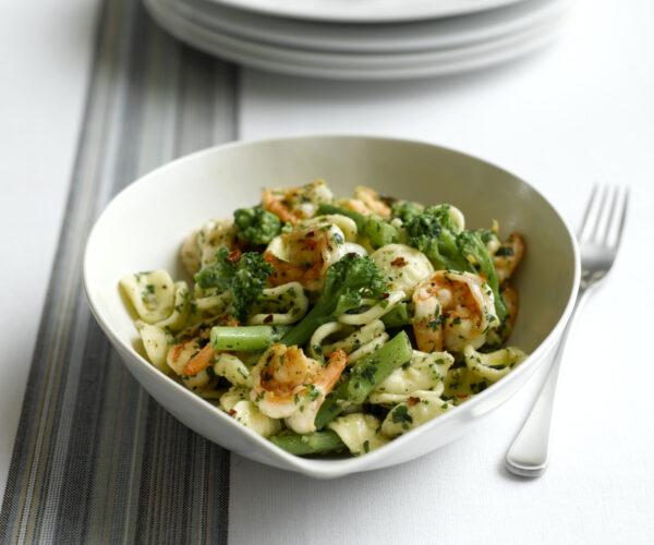 Orecchiette with Tenderstem® broccoli & Prawns