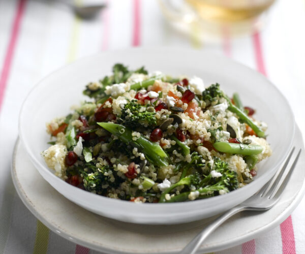 Quinoa Salad with Feta, Tenderstem® broccoli & Pomegranate