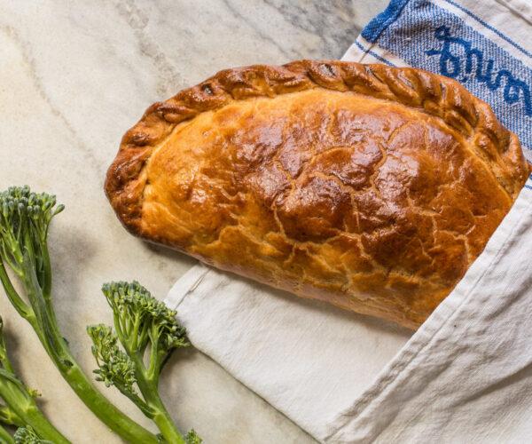 Vegetarian Tenderstem® broccoli & Cornish Blue Cheese Pasty