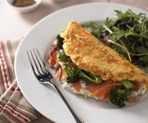 Tenderstem® broccoli & Smoked Salmon Omelette