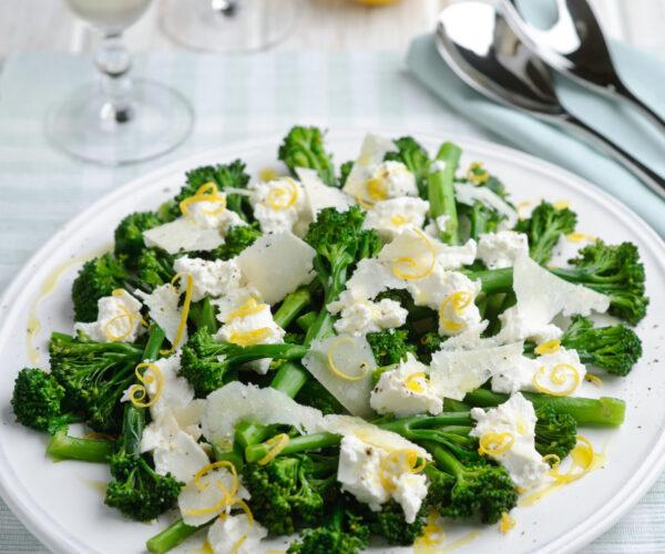 Tenderstem® Broccoli with Ricotta, Lemon & Shaved Parmesan