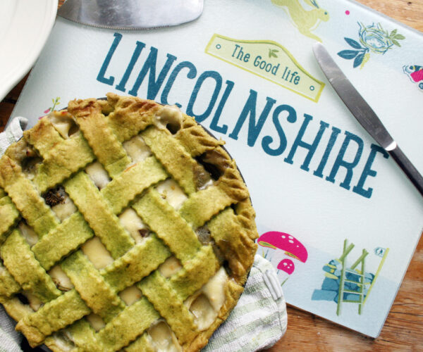 Tenderstem® Broccoli & Mushroom Pie Lincolnshire Poacher Cheese Sauce & Spinach Lattice Pastry