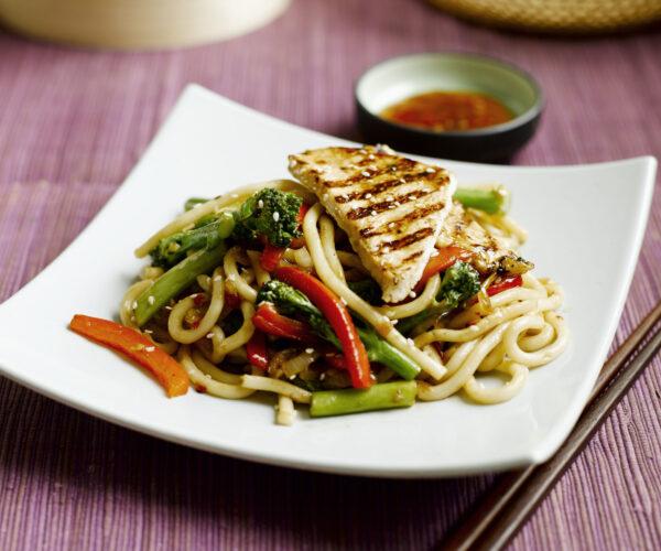 Udon Noodles with Tenderstem® broccoli, Red Peppers & Griddled Turkey Breast