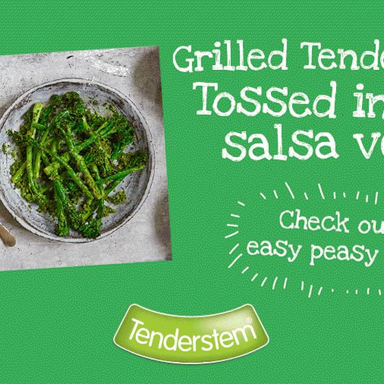 Griddled Tenderstem® broccoli Tossed in Salsa Verde